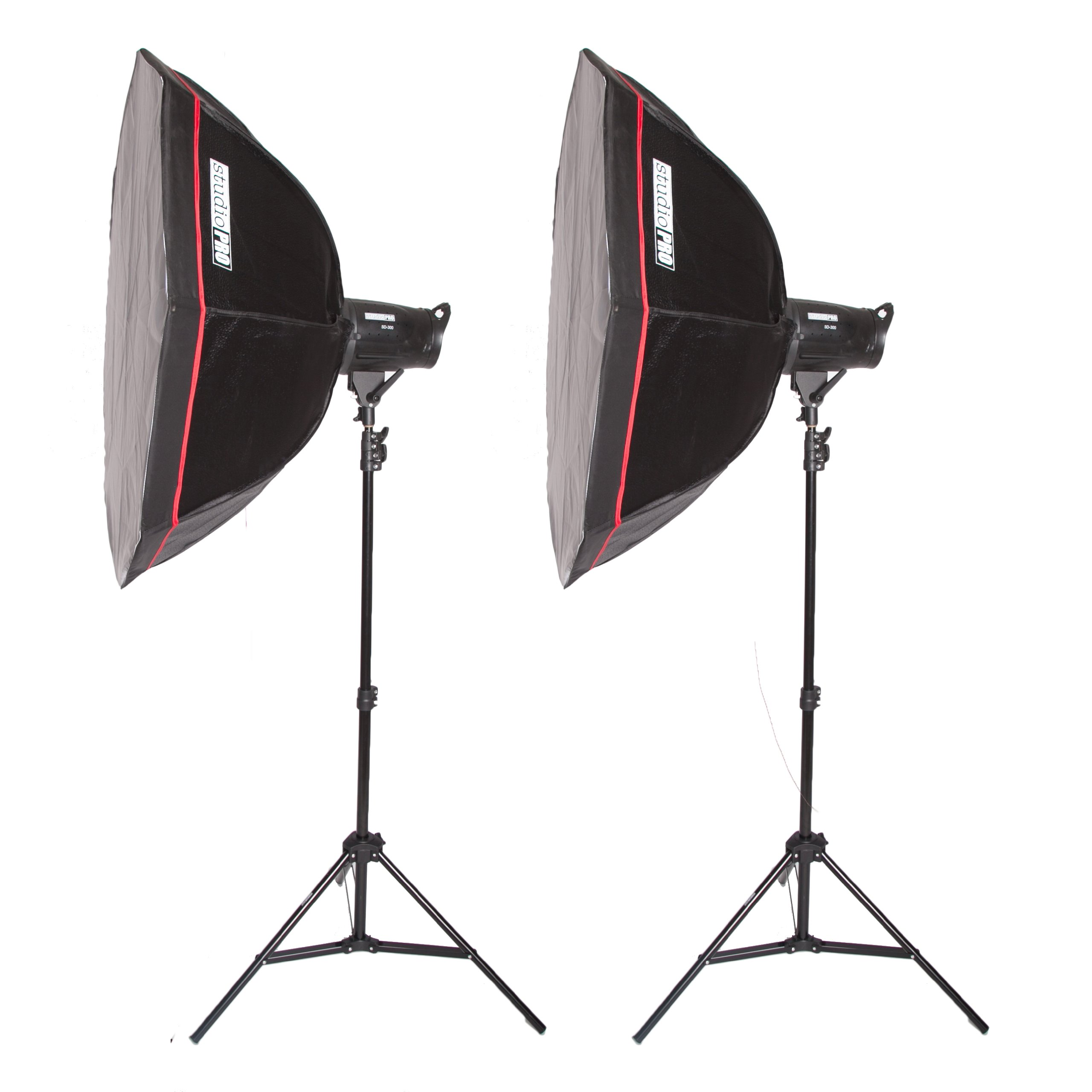 Fovitec StudioPRO Photography Studio Flash 800W/s Two Strobe Monolight 48'' Octagon Softbox Kit by Fovitec
