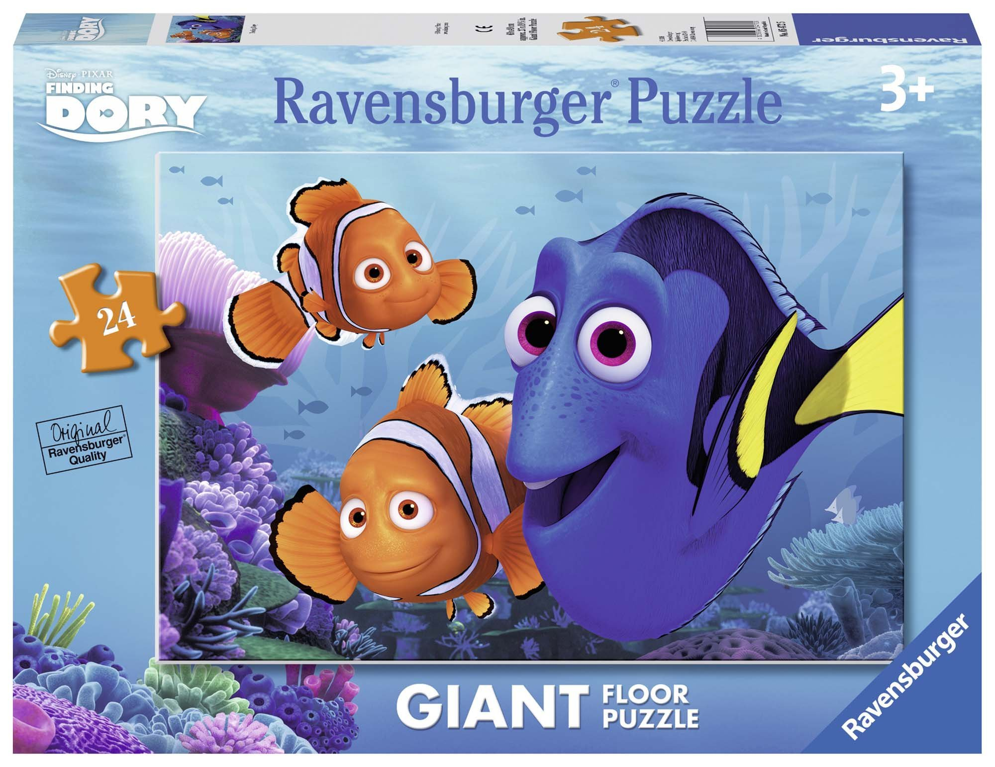 Ravensburger Finding Dory Floor Puzzle 24 Piece Jigsaw Puzzle for Kids - Every Piece is Unique, Pieces Fit Together Perfectly by Ravensburger