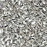 "uGems Silver Solder Ultra Tiny Precut Pieces 0.5mm X 1mm X .25mm ""Medium "" Density Chip (Qty=1500)"