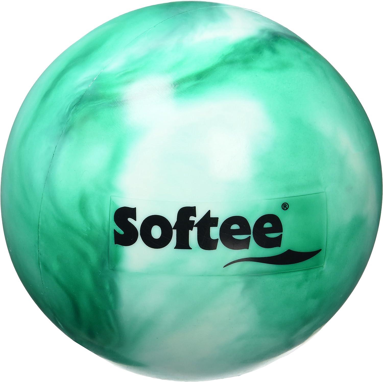 Softee Equipment 0010513 Pelota de Gimnasia, Blanco y Verde, S