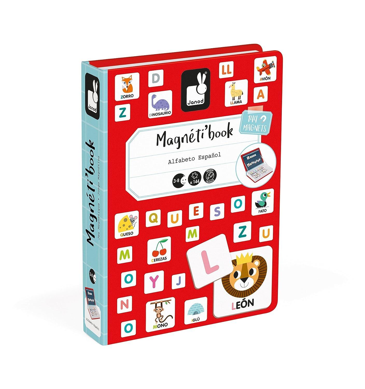 Janod MagnetiBook Alfabeto juguete educativo, Version en Español (J02714): Amazon.es: Juguetes y juegos