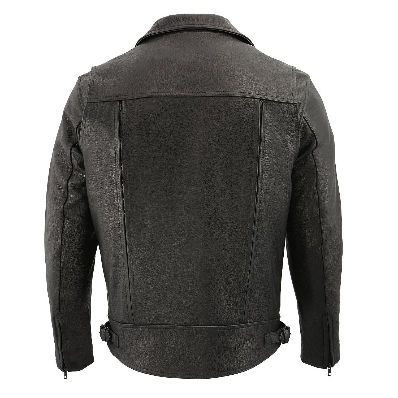 JLK DOUBLE SIDE Milwaukee Leather Mens Pistol Pete Jacket Black, X-Large