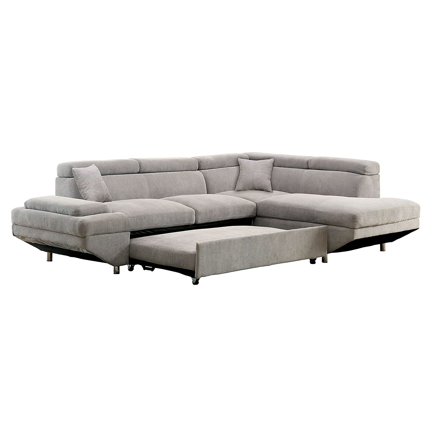 Tremendous Homes Inside Out Walters Sectional With Pull Out Sleeper Chaise Pabps2019 Chair Design Images Pabps2019Com