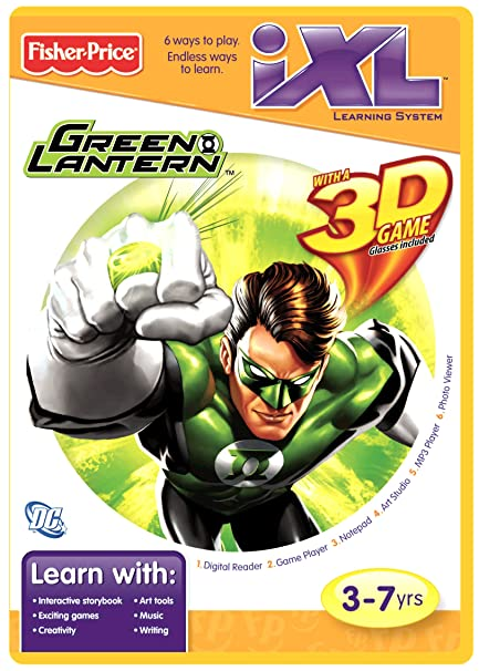 amazon com fisher price ixl learning system software green lantern rh amazon com