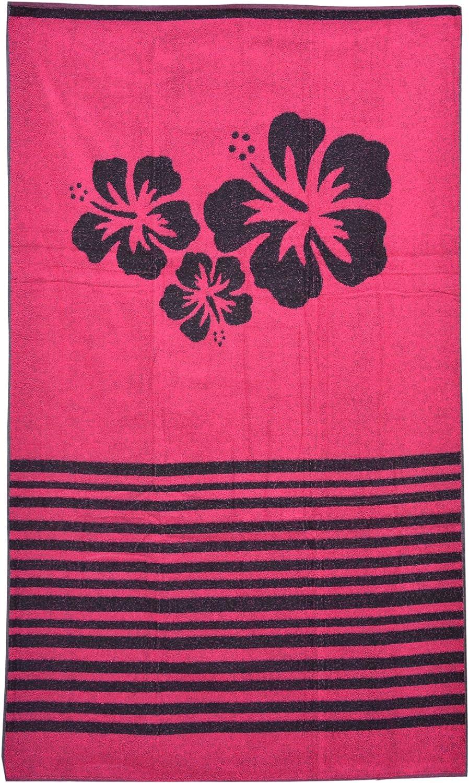 Casa Ydeal Store Toalla de Playa 100cm x 160cm Flores Hawaian (Rosa): Amazon.es: Hogar