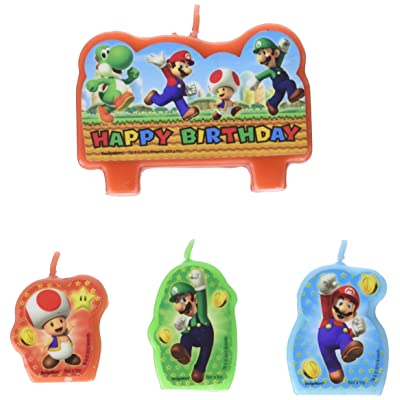 Super Mario Brothers Birthday Candle Set: Toys & Games