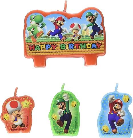 Amazon.com: Amscan Super Mario - Vela moldeada para tartas ...