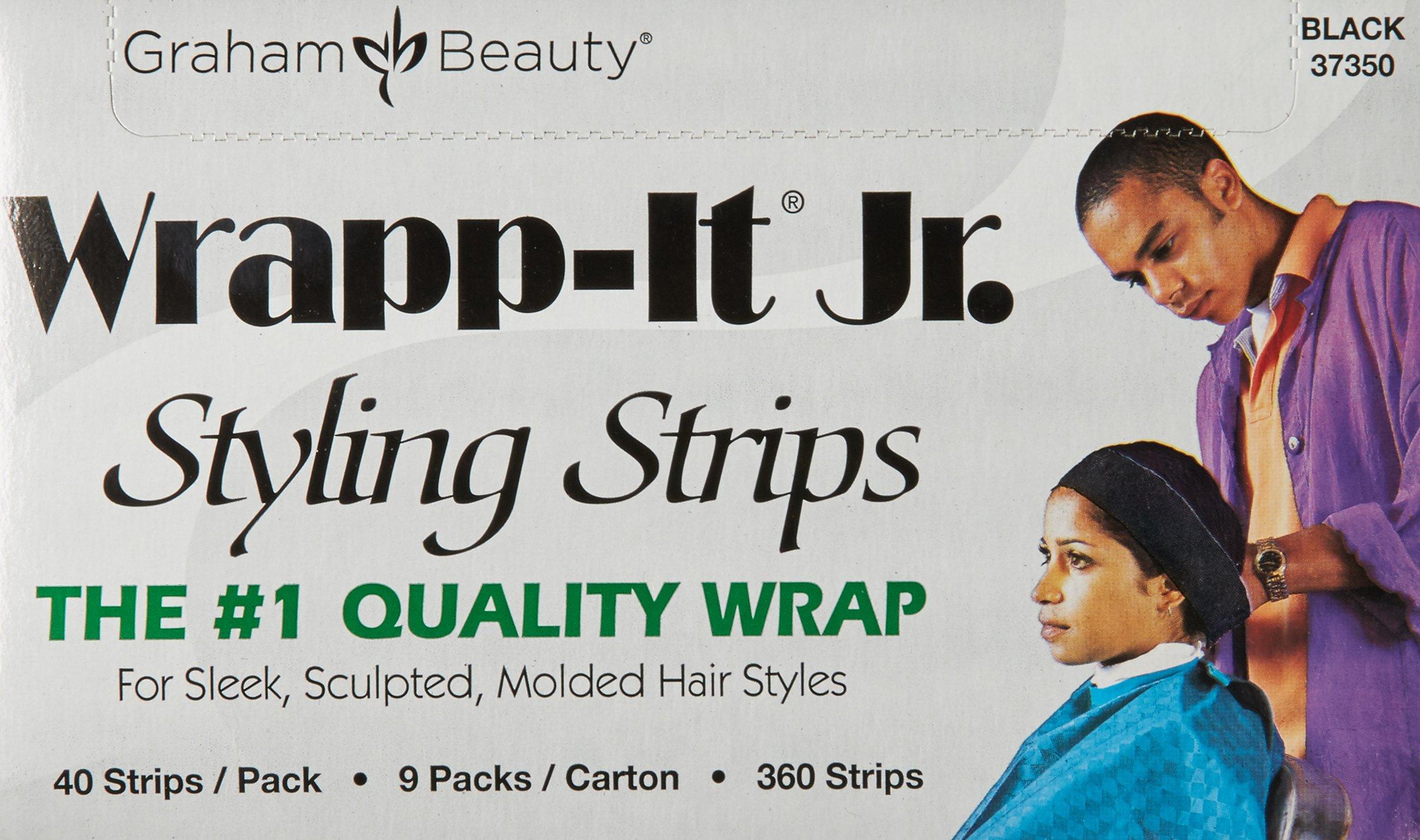 Graham Professional Beauty Wrapp-It Jr Styling Strips, Black by Graham Professional Beauty (Image #3)