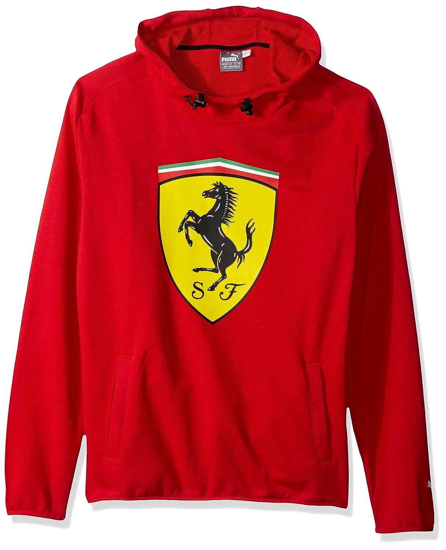 PUMA Men\u0027s Standard Scuderia Ferrari Big Shield Hooded Sweatshirt