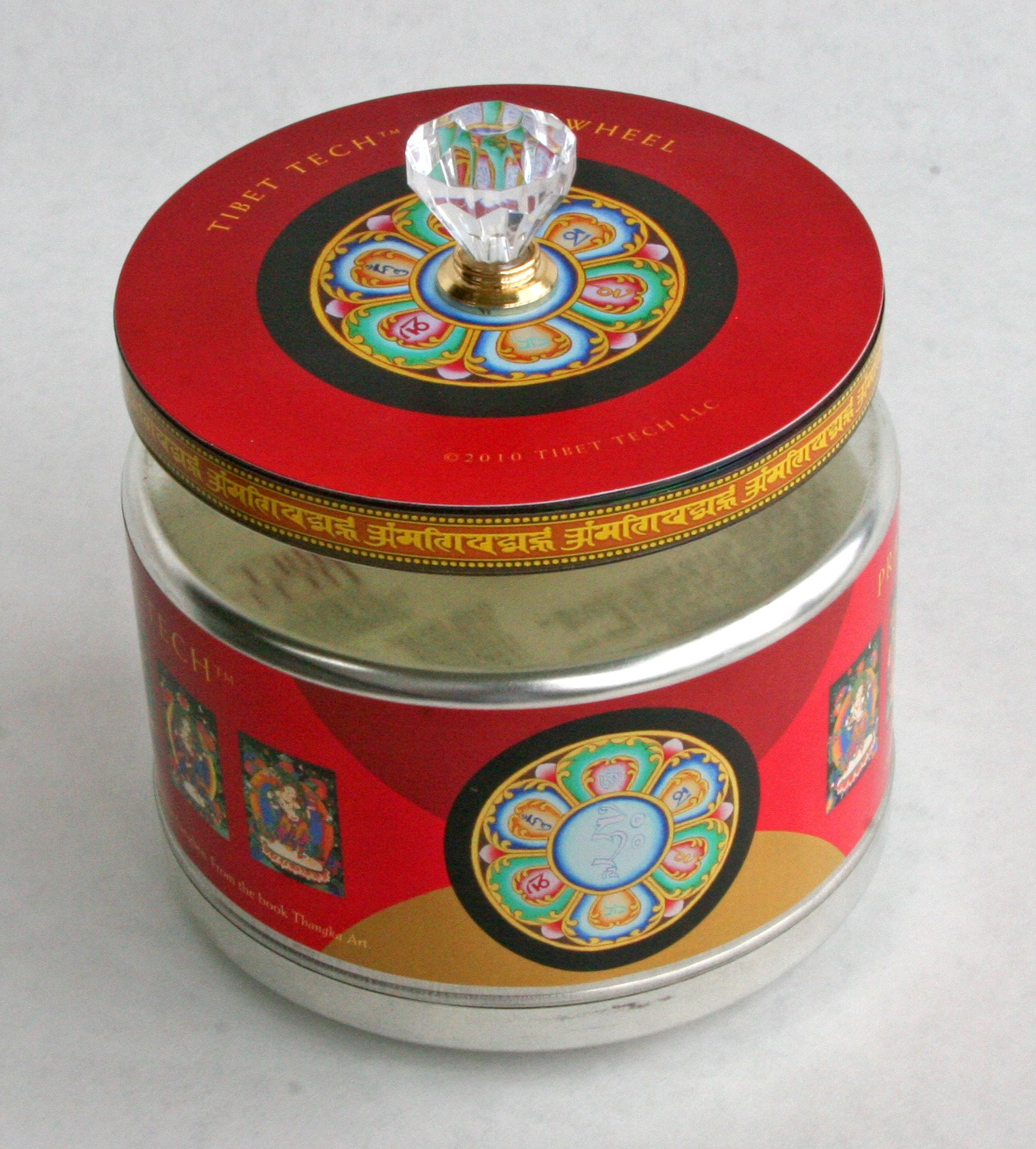 Tibet Tech ''Two-In-One'' Electric Table-top Prayer Wheel - 8-DVDs with 84,348,750,000 prayers and 1-DVD with 16,003,200,000 Medicine Buddha prayers