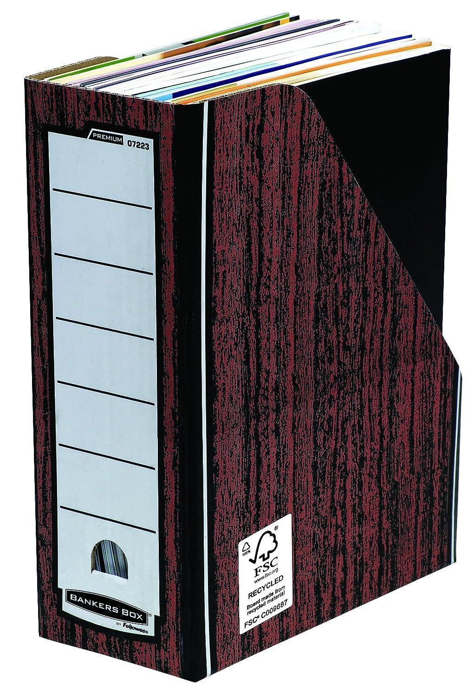 Fellowes 0722904 Porte-revues Banker Box Premium - Montage automatique - Bleu (lot de 10) 0722902