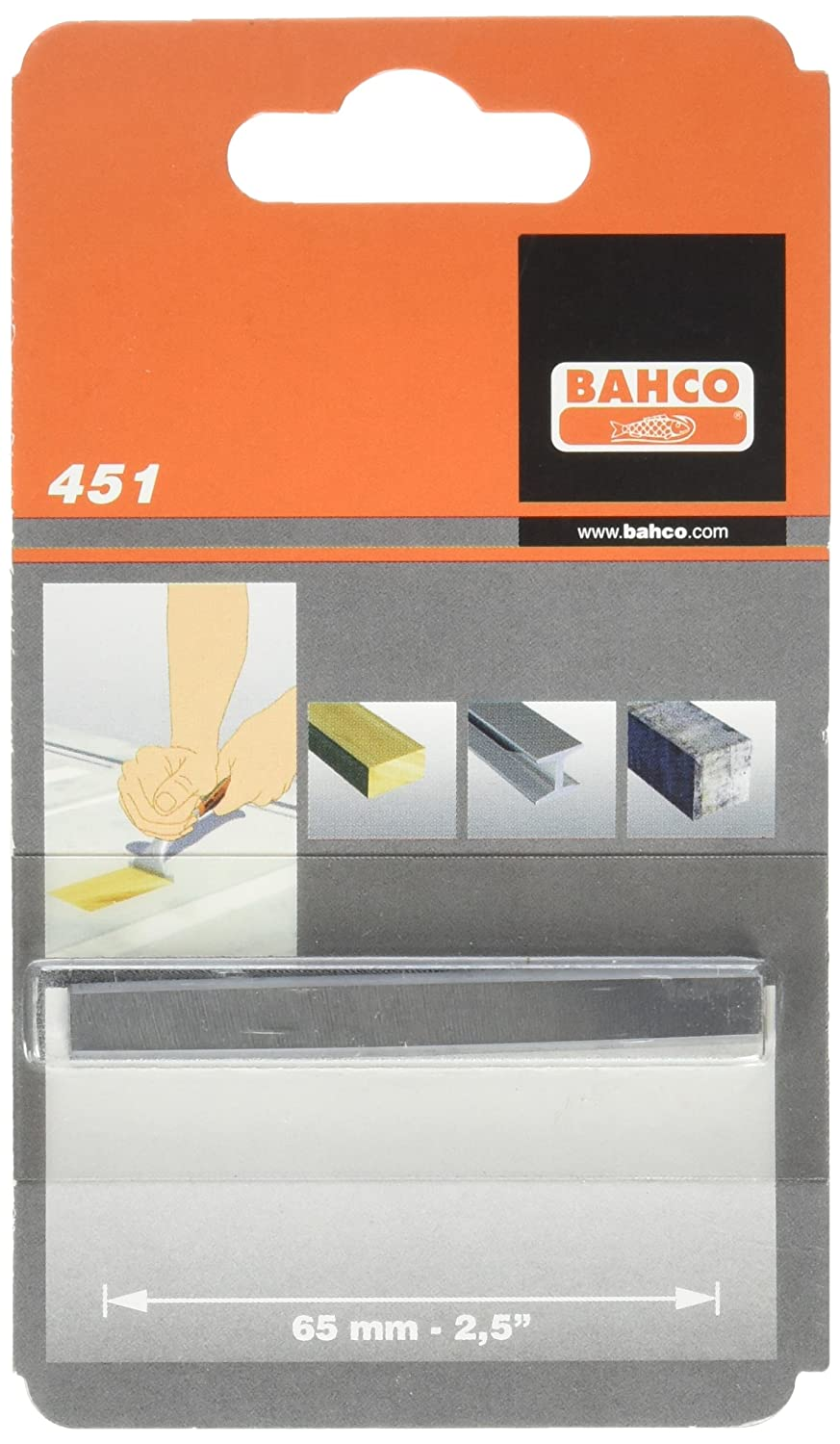 Bahco Heavy Duty 2-1/2-Inch Replacement Scraper Blade #451