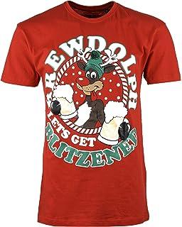 52ca545ef Mens Christmas T Shirt Xmas Novelty Gift Printed Cotton Tshirt Short Sleeves
