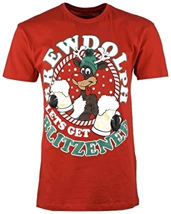 Mens Christmas T Shirt Xmas Novelty Gift Printed Cotton Tshirt Short Sleeves dd8d26102885