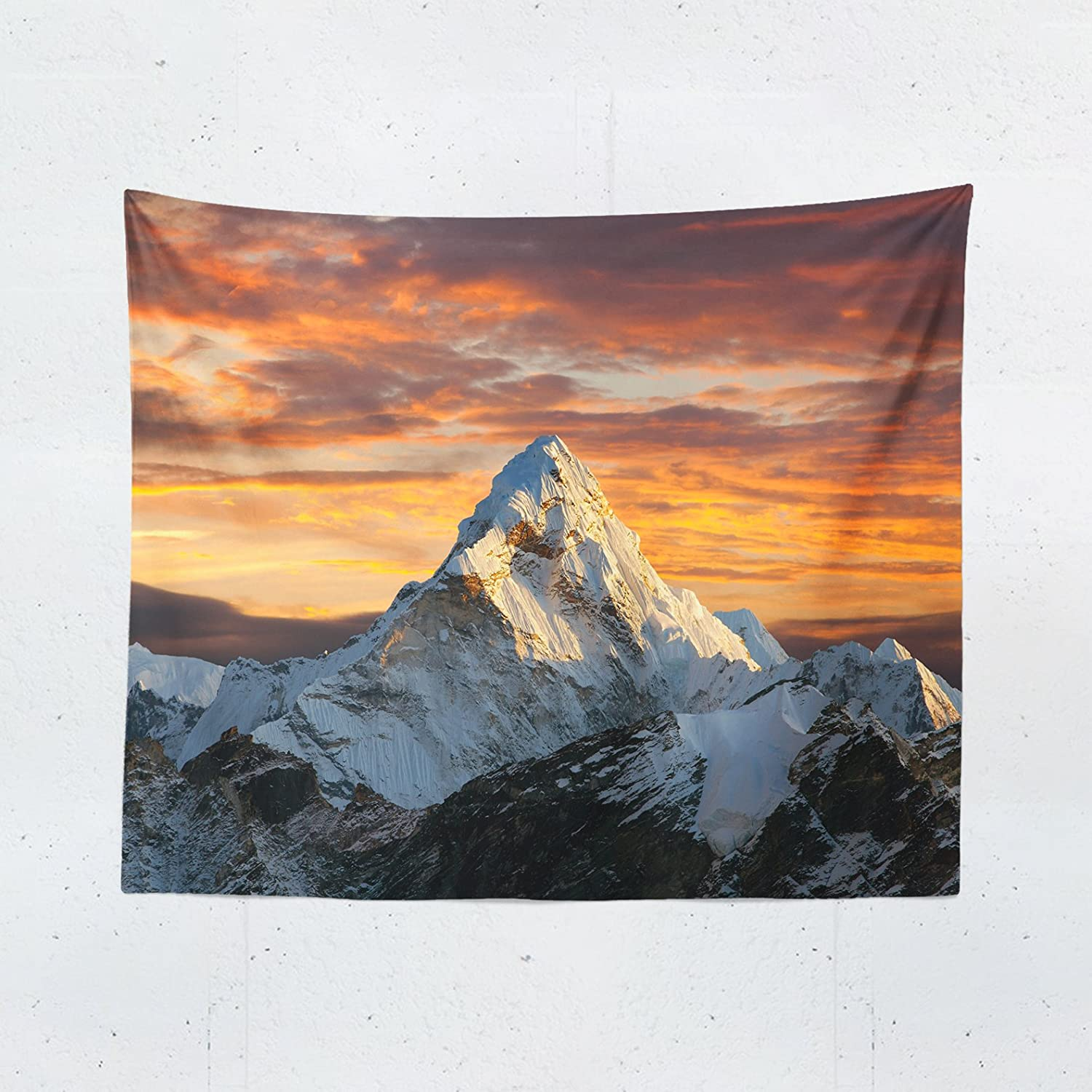 Mountain Tapestry - Landscape Scenic Nature Everest Wall Tapestries Hanging Décor Bedroom Dorm College Living Room Home Art Print Decoration Decorative - Printed in the USA - Small Medium Large Sizes