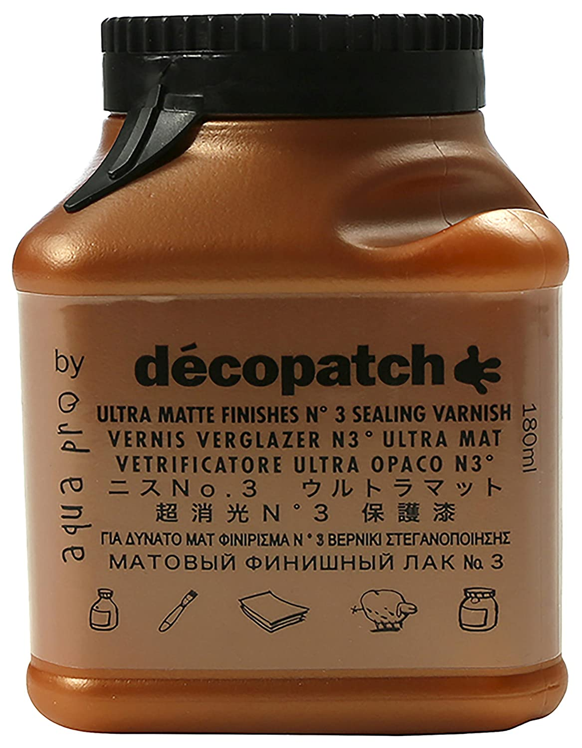 décopatch Sealing Varnish, Satin No1, 180 ml VA180BO