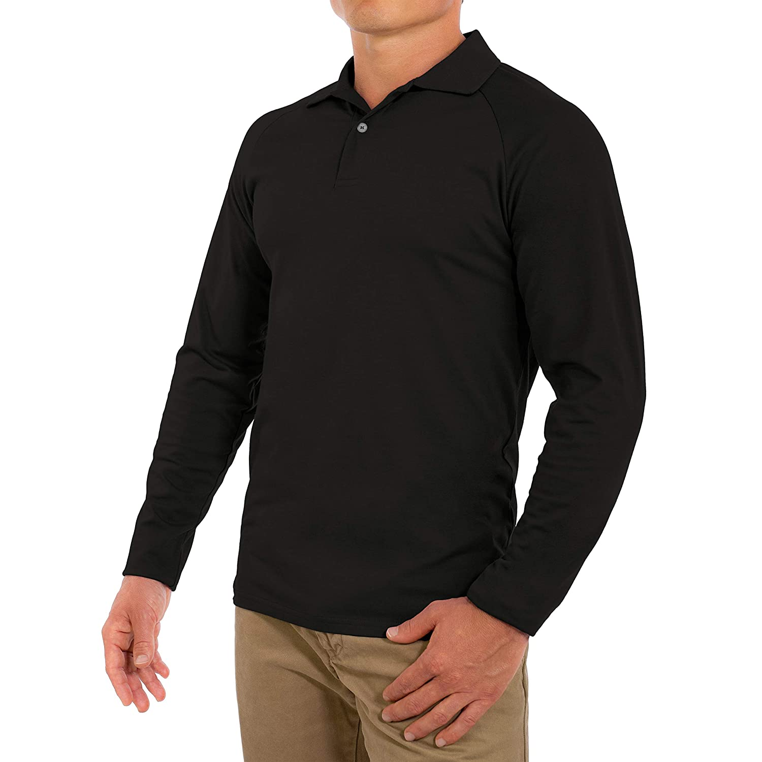 5c3695257846c8 CC Perfect Slim Fit Long Sleeve Polo Shirts for Men | Soft Fitted  Breathable Mens Long Sleeve Polo Shirts at Amazon Men's Clothing store: