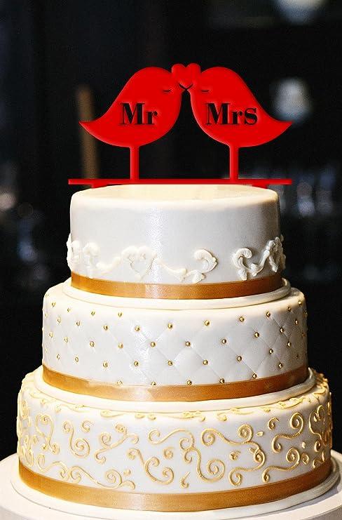 Amazon Com Love Birds Wedding Cake Topper Love Birds Cake Topper