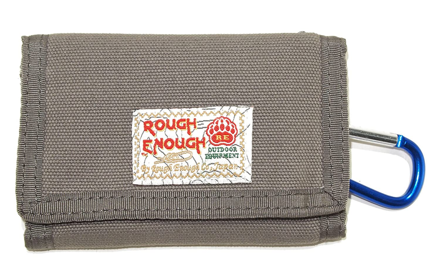 ROUGH ENOUGH Outdoor Multi-functional Classic Leisure Cool Vintage Fancy Stylish Small Size Trifold Durable Canvas Cash Wallet Purse Organizer With YKK Zipper Coin Pocket for School Boys Kids Students ROUGH ENOUGH INC. RE8003-5-7
