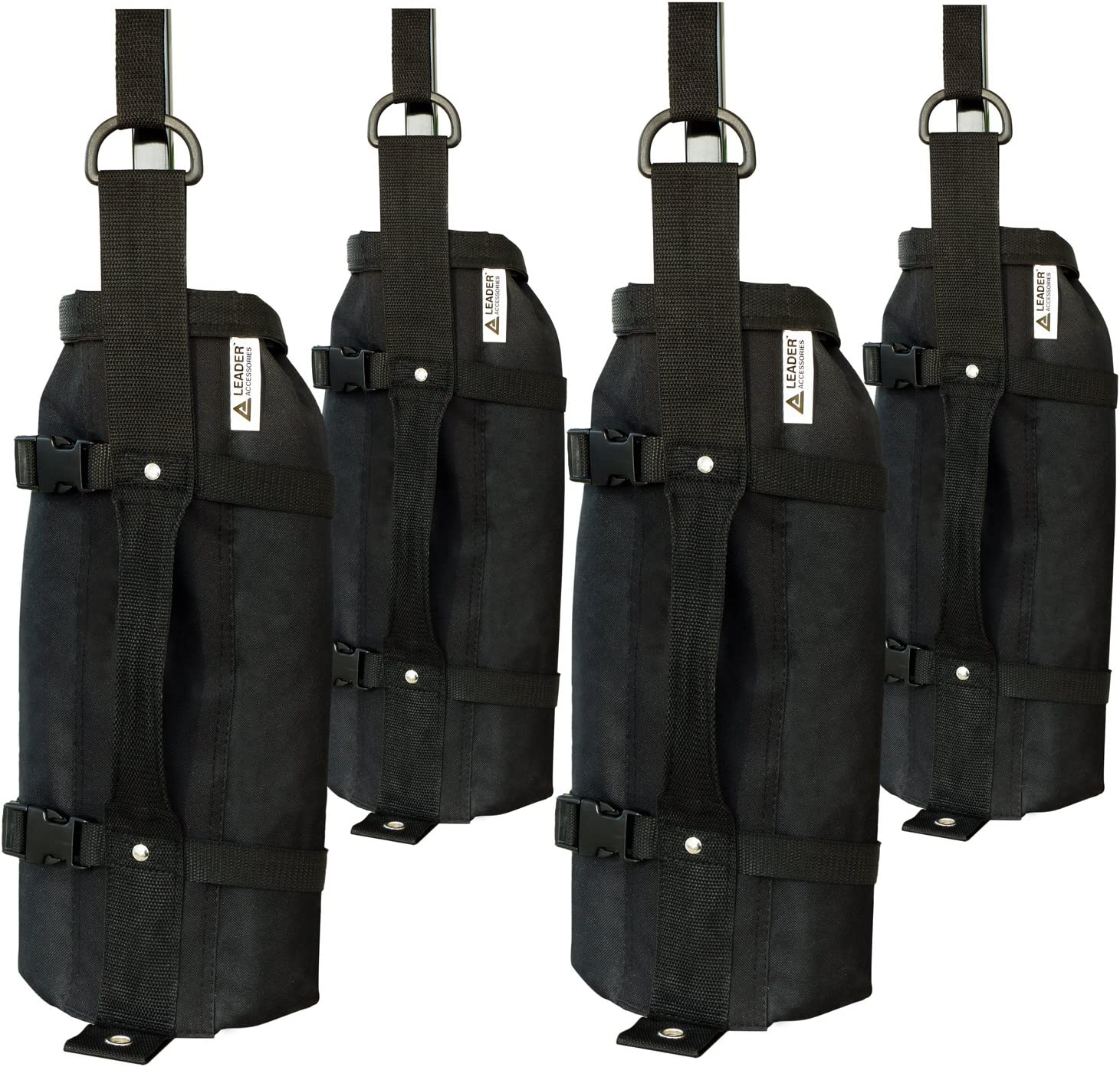 Leader Accessories 10 x 10 Instant Canopy with 4-Pack Canopy Weights One Wheeled Carry Bag