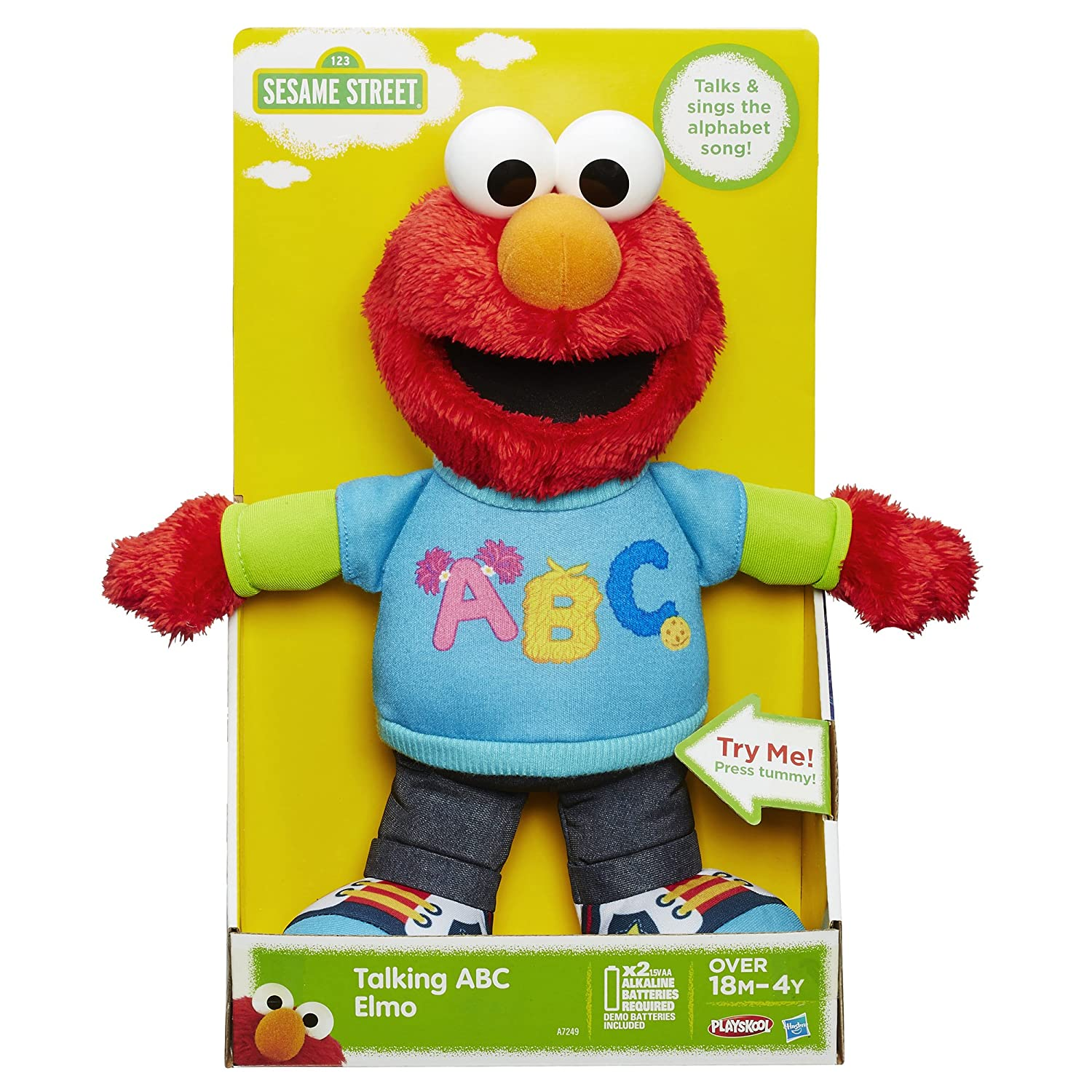 Amazon Sesame Street Talking ABC Elmo Figure Toys & Games