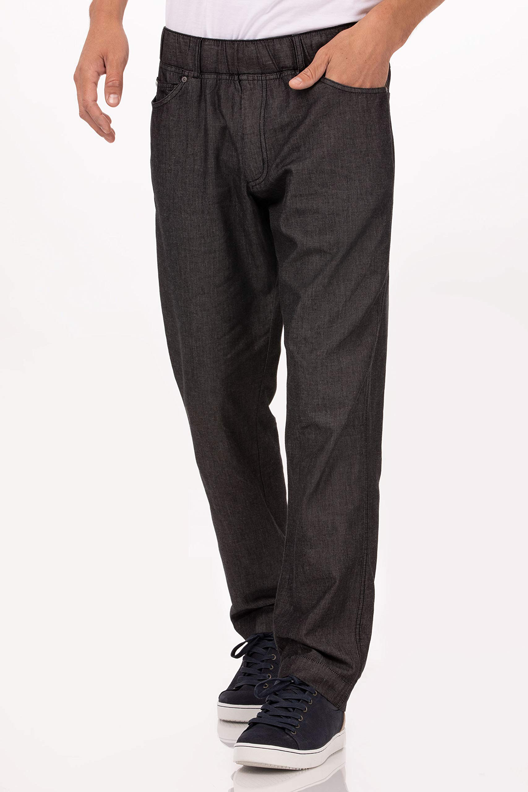 Chef Works Men's Gramercy Chef Pants, Black, Medium by Chef Works