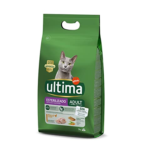Ultima Pienso para Gatos Esterilizados Adulto con Pollo: Amazon.es ...