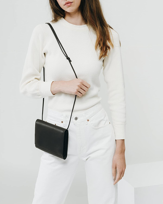 BAGGU Kompakt handväska, snygg och snygg axelväska Svart