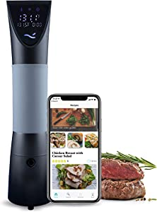 Nise Wave Sous Vide, 1200W Waterproof Immersion Circulator, with Wifi and Touch Control