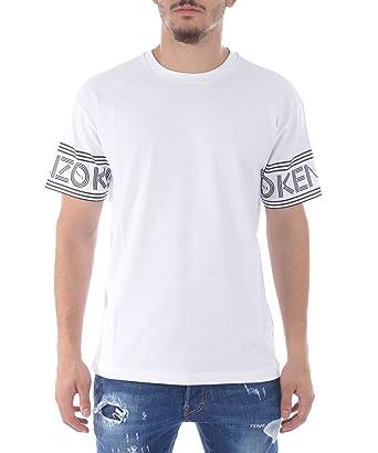658a7a2e7 Kenzo Men's F665TS0434BD01 White Cotton T-Shirt: Amazon.co.uk: Clothing
