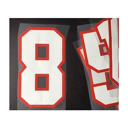 "9/"" FOOTBALL SHIRT NUMBER IRON ON//HEATPRESS VINYL TRANSFERS IN VARIOUS COLOURS"