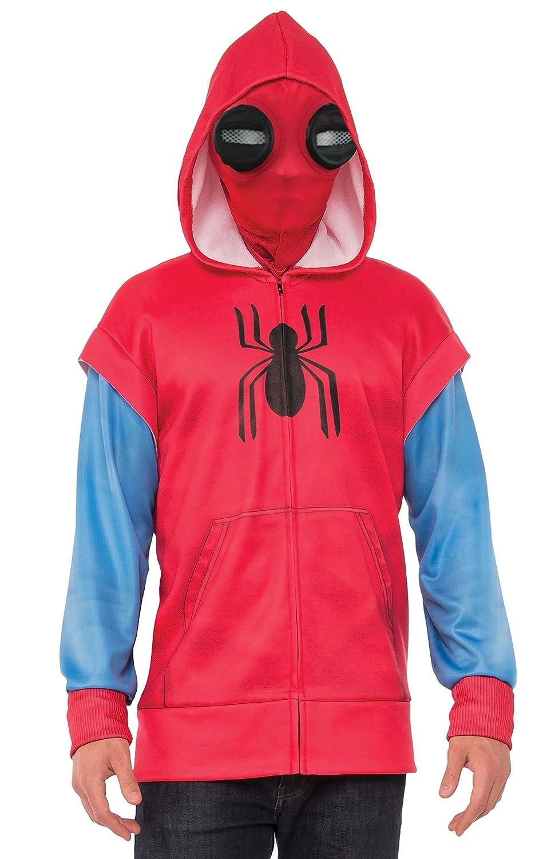 Rubies Spider-Man: Homecoming Adult Homemade Suit Costume Hoodie