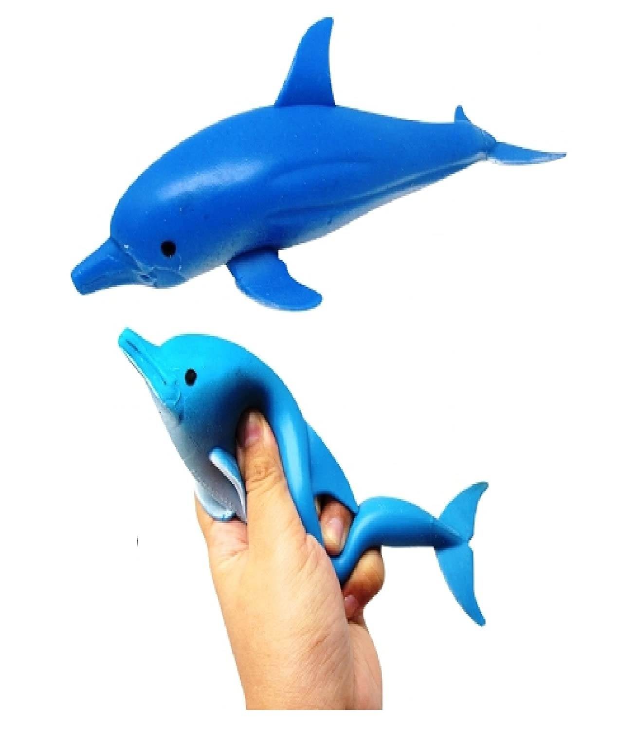stretchy rubber dolphin 21 cm long kids soft toy amazon co uk