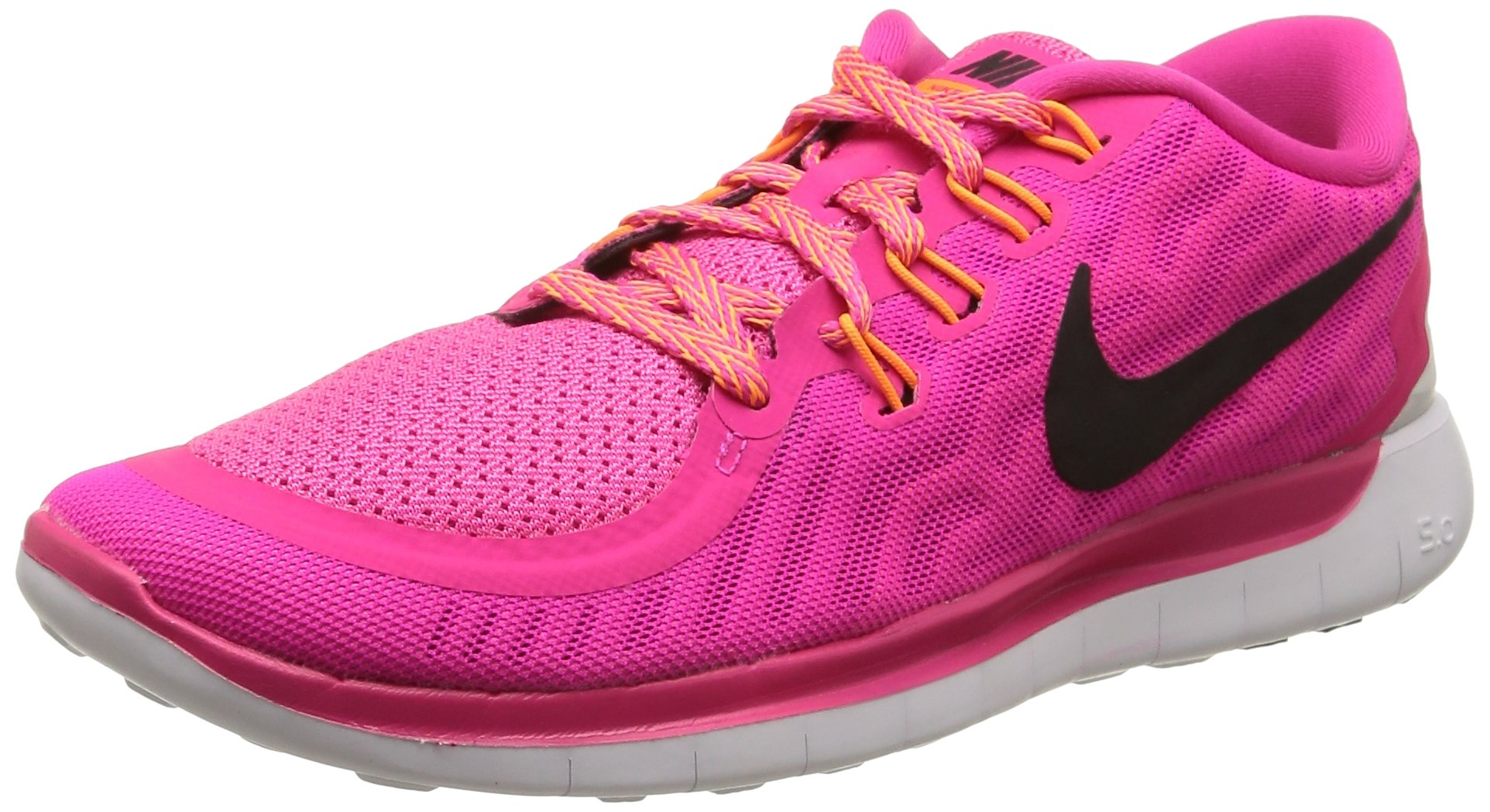 991ad48bc99b Galleon - Nike Women s Free 5.0 Running Shoes Pink Foil Pink Pow Bright  Citrus Black Size 7 M US