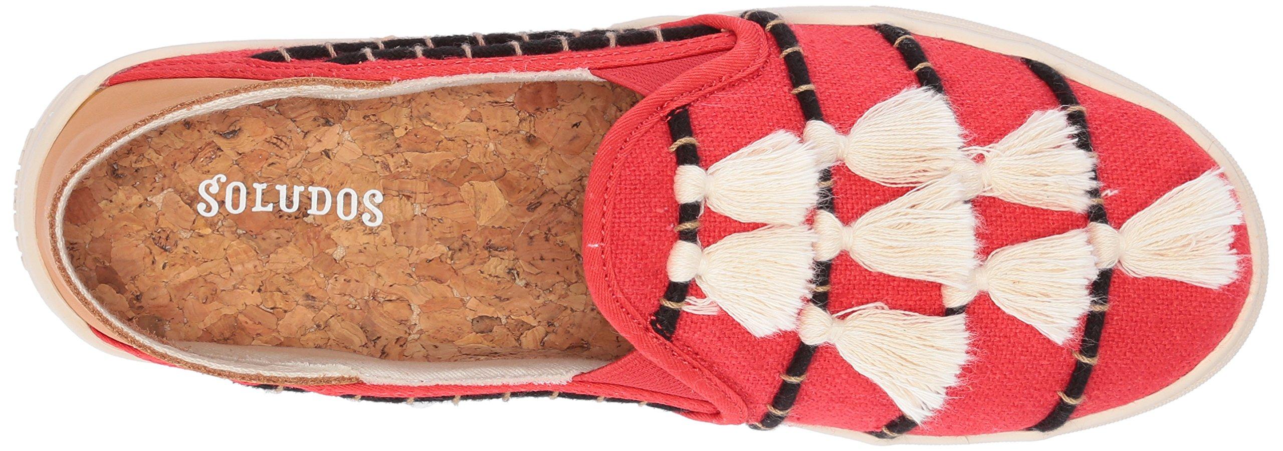 Soludos Women's Tassel Slip Sneaker, Red/Beige, 8 B US by Soludos (Image #8)