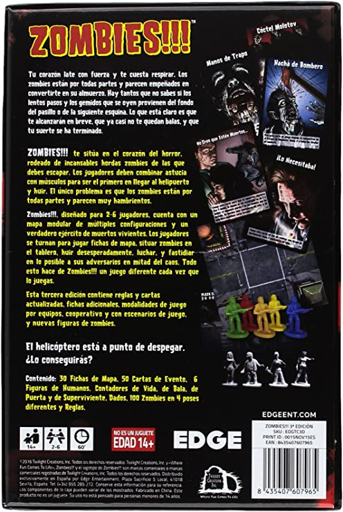 Edge Entertainment- Juego de Mesa, 3ª edición (EDGTC3D): Amazon.es ...