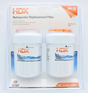 HDX HDX2PKDS0 1001636964 Refrigerator Water Filter (fits in place of GE model MWF) (Dual Pack)