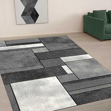 unamourdetapis tapis de salon brillance geometrique tapis moderne 110x60 gris - Tapis Moderne