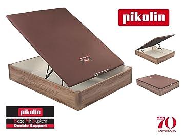 ACOMODAT Canapé Abatible de Madera Modelo: 3D Transpirable Roble - Pikolin 150x200 cm