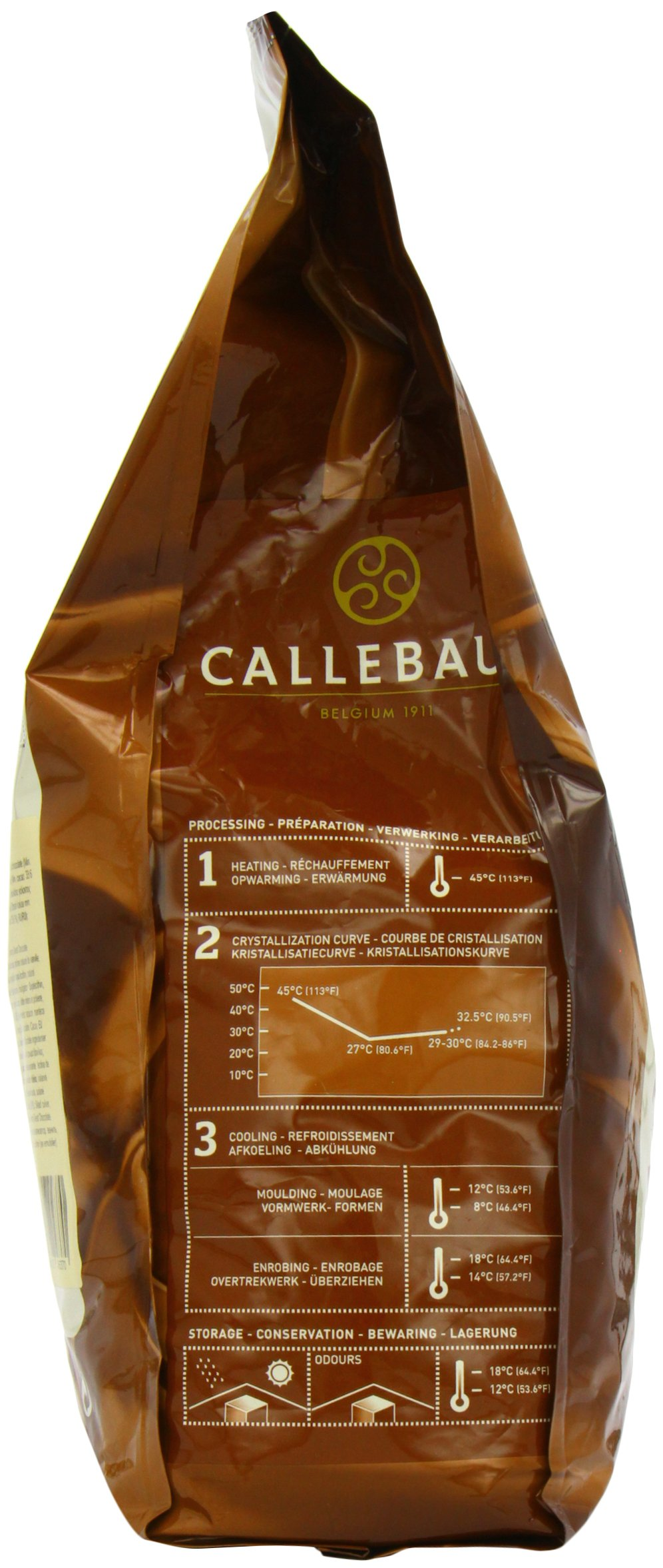 Belgian Milk Chocolate Baking Callets (Chips) - 33.6% - 1 bag, 5.5 lbs by Callebaut (Image #6)