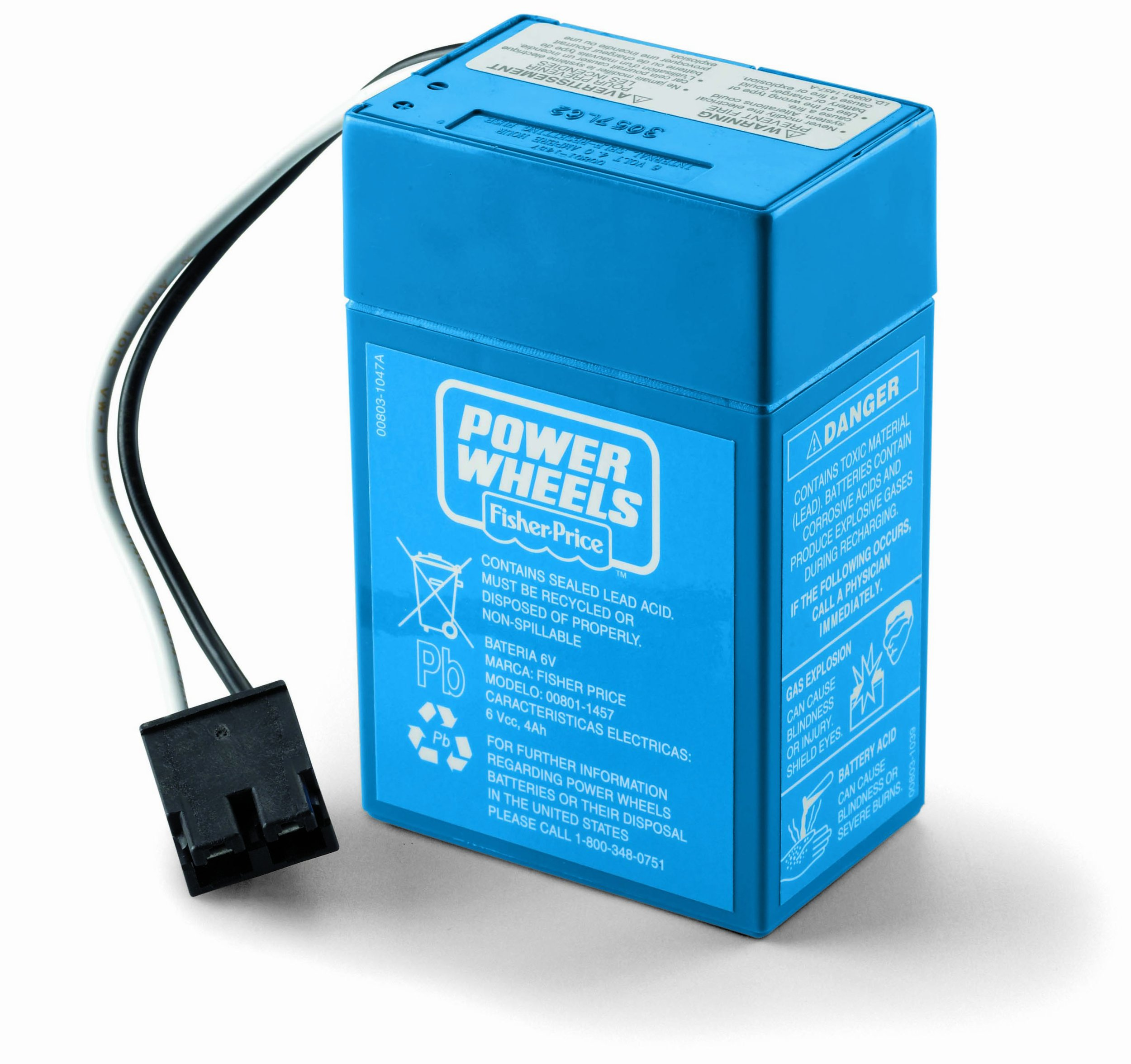 Power Wheels Toddler 6-Volt Rechargeable Replacement Battery by Power Wheels