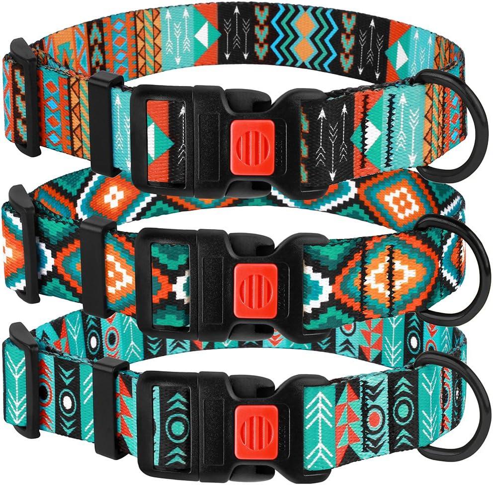 CollarDirect Nylon Dog Collar with Buckle Tribal Pattern: