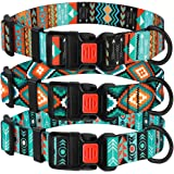 "CollarDirect Nylon Dog Collar with Buckle Tribal Pattern Puppy Adjustable Collars for Dogs Small Medium Large (Pattern 2, Neck Fit 14""-18"")"