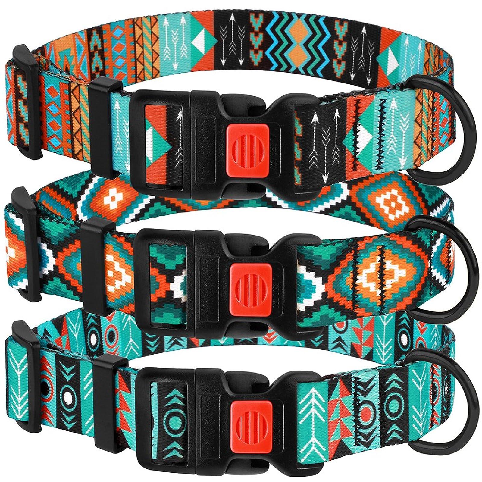 CollarDirect Nylon Dog Collar with Buckle Tribal - 8