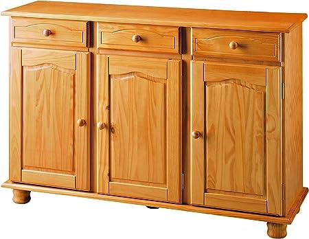Fabricado en madera maciza de pino, estilo rustico para un mueble bonito y resistente,Cajones con gu