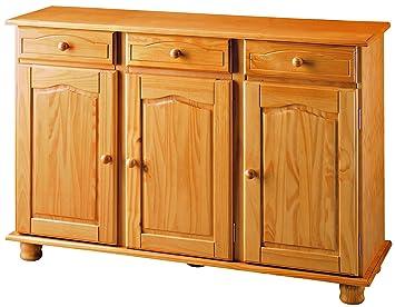 Credenza Cucina Con Cassetti : Altea dogar credenza da porta con cassetti 86x130x42 cm miele