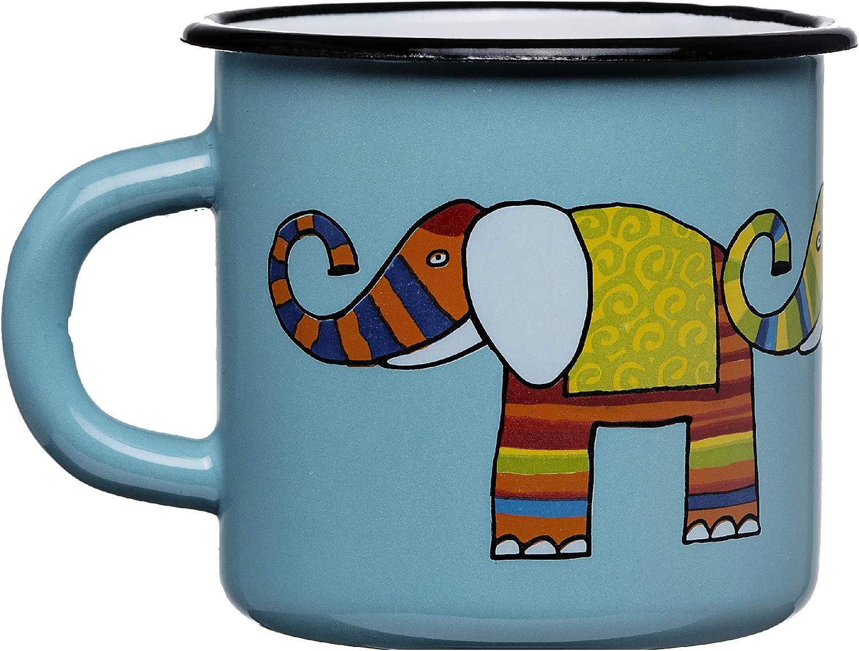 en Forma c/ónica, de 250 ml para ni/ños o Camping Smaltum Una Taza Naranja Elefantee Ligera e inquebrantable