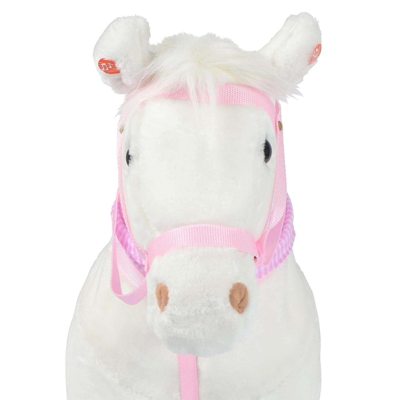 mit Sound Pink Papaya Stehpferd zum draufsitzen 75cm Pl/üschpferd Jasper