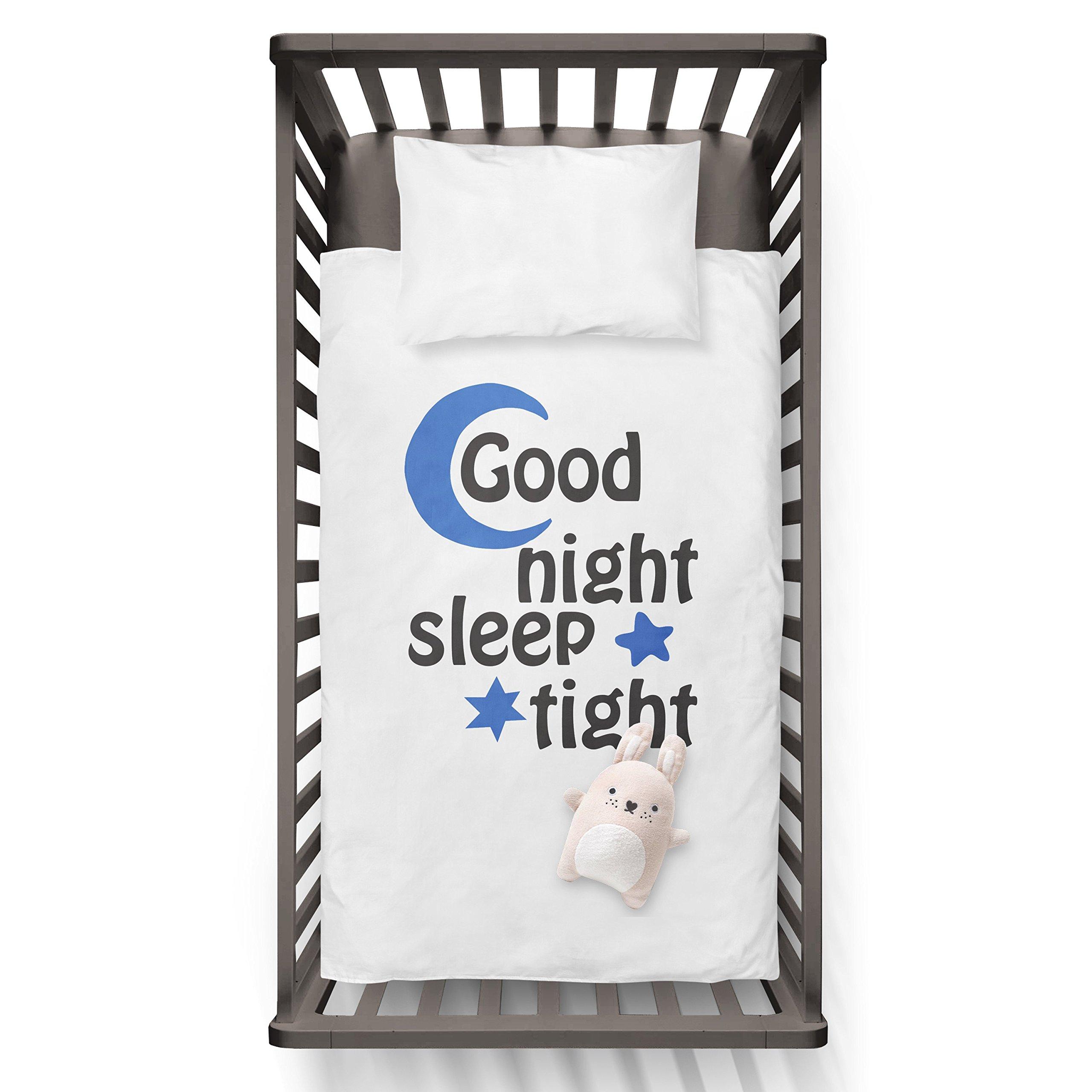 Good Night Sleep Tight Funny Humor Hip Baby Duvet /Pillow set,Toddler Duvet,Oeko-Tex,Personalized duvet and pillow,Oraganic,gift