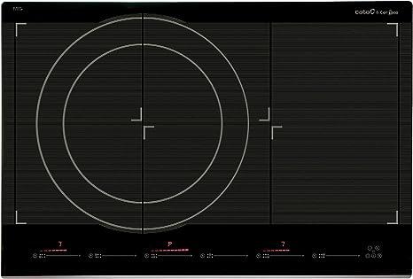 Cata Giga 750 | Placa De Inducción | 6 Zonas De Cocción, 2100 W, Vidrio, Acero Inoxidable, Negro, Gris: 881.09: Amazon.es: Hogar
